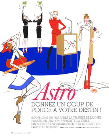 MARIE FRANCE MAGAZINE : Zodiac