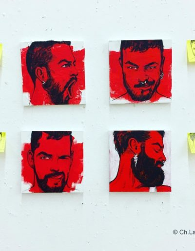 PAINTINGS INSPIRED BY MY POST-IT PORTRAITS