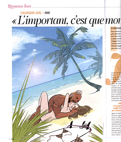 Illustration du roman CALENDAR GIRL ( A. Carlan)  - VOICI MAGAZINE