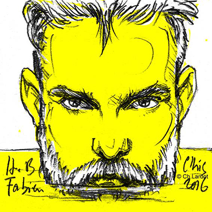 ORIGINAL POST-IT PORTAIT: FABIEN