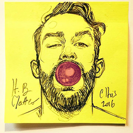ORIGINAL POST-IT PORTAIT: MATTEO