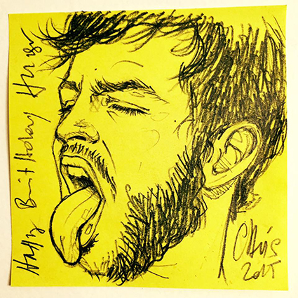 ORIGINAL POST-IT PORTAIT: HUGO