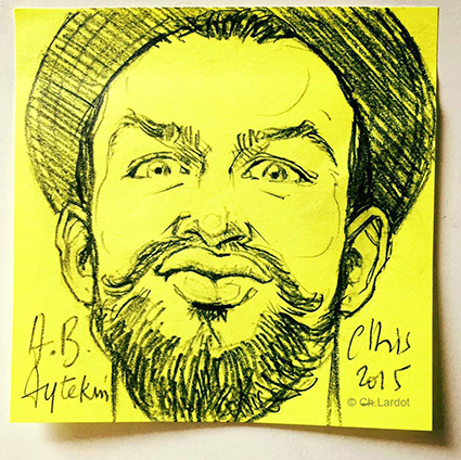 POST-IT PORTAIT: AYTEKIN