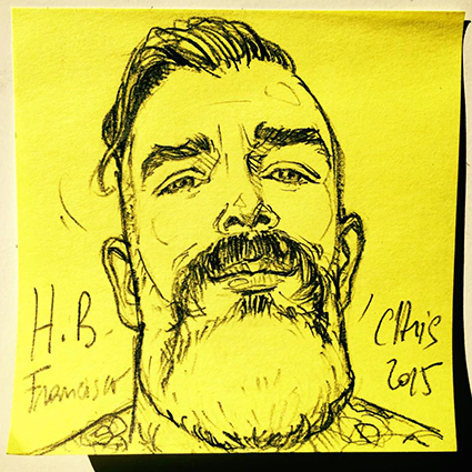 ORIGINAL POST-IT PORTAIT : FRANCISCO