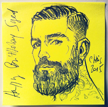 ORIGINAL POST-IT PORTAIT : SYED