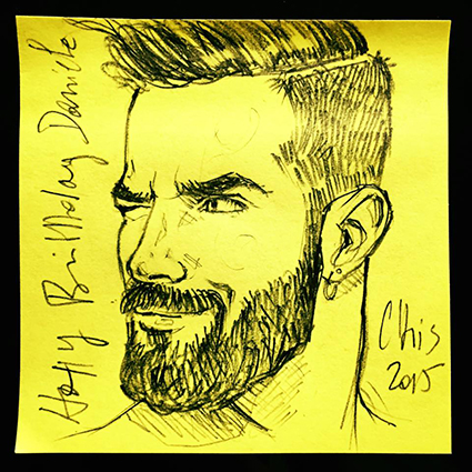 ORIGINAL POST-IT PORTAIT : DANIELE